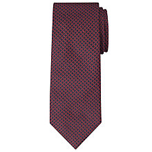 Buy John Lewis Made in Italy Honeycomb Tie, Navy/Red Online at johnlewis.com