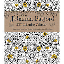 Buy Johanna Basford Colouring 2017 Planner Online at johnlewis.com