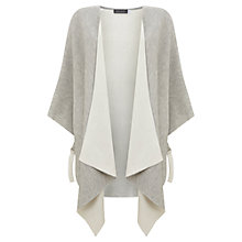 Buy Mint Velvet Doubled Faced Knit Cape, Grey Online at johnlewis.com
