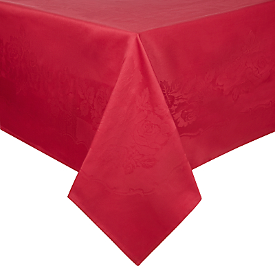 John Lewis Rose Jacquard Tablecloth, Red