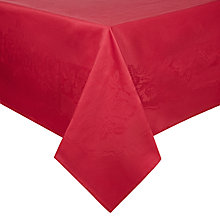 Buy John Lewis Rose Jacquard Tablecloth, Red Online at johnlewis.com