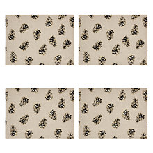 Buy John Lewis Pinecone Placemats, Set of 4 Online at johnlewis.com