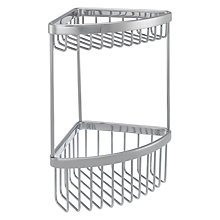 Buy John Lewis New Classic 2 Tier Shower Corner Basket, Small Online at johnlewis.com