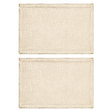 Buy John Lewis Halcyon Placemat, Set of 2, Gold Online at johnlewis.com