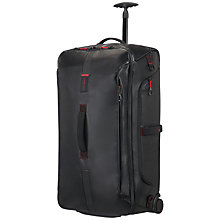 Buy Samsonite Paradiver 2-Wheel Duffle, 79cm, Black Online at johnlewis.com