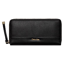 Buy Calvin Klein Lily Large Zip-Around Purse, Black Online at johnlewis.com