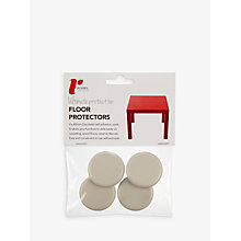 Buy Russel Acrylic Floor Protector Cups, Pack of 4, 40mm Online at johnlewis.com
