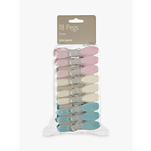 Buy John Lewis Soft Grip Clothes Pegs, Pack of 18 Online at johnlewis.com