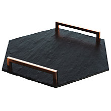 Buy Just Slate Hexagonal Tray Online at johnlewis.com