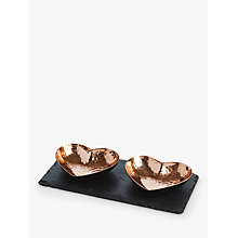 Buy Just Slate Copper Heart Dipping Bowls, Set of 2 Online at johnlewis.com