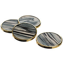 Buy Just Slate Horn-Effect Coasters, Set of 4 Online at johnlewis.com