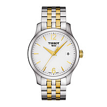 Buy Tissot T0632102203700 Women's Tradition Date Two Tone Bracelet Strap Watch, Silver/Gold Online at johnlewis.com