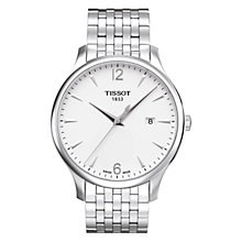 Buy Tissot T0636101103700 Men's Tradition Date Bracelet Strap Watch, Silver/White Online at johnlewis.com