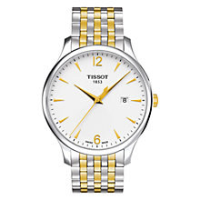 Buy Tissot T0636102203700 Men's Tradition Date Two Tone Bracelet Strap Watch, Silver/Gold Online at johnlewis.com