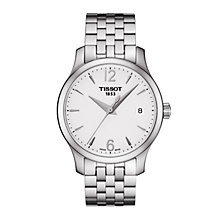 Buy Tissot T0632101103700 Women's Tradition Date Bracelet Strap Watch, Silver Online at johnlewis.com