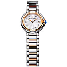 Buy Maurice Lacroix FA1003-PVP13-150 Women's Fiaba Date Diamond Two Tone Bracelet Strap Watch, Silver/Rose Gold Online at johnlewis.com