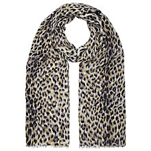 Buy John Lewis Brushed Animal Print Scarf, Black/Multi Online at johnlewis.com