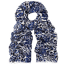 Buy John Lewis Animal Print Scarf, Midnight/Multi Online at johnlewis.com