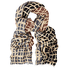 Buy John Lewis Colour Block Grid Print Scarf, Natural/Multi Online at johnlewis.com