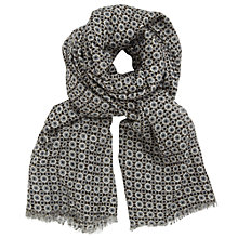 Buy John Lewis Geo Tile Print Scarf, Black Online at johnlewis.com