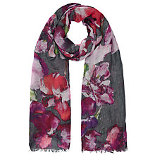 Buy John Lewis Flora At Rest Print Scarf, Black/Multi Online at johnlewis.com