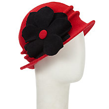 Buy John Lewis Wool Floral Cloche Hat Online at johnlewis.com