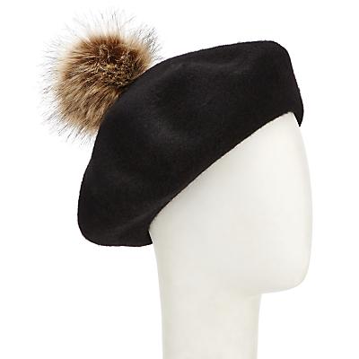 1940s Style Hats John Lewis Faux Fur Pom Pom Beret £18.00 AT vintagedancer.com