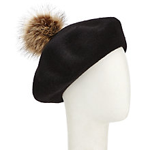 Buy John Lewis Faux Fur Pom Pom Beret Online at johnlewis.com