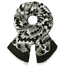 Buy John Lewis Batik Print Wrap, Black/Grey Online at johnlewis.com