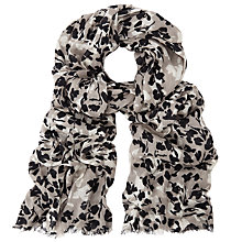 Buy John Lewis Shadow Floral Print Scarf, Taupe/Multi Online at johnlewis.com