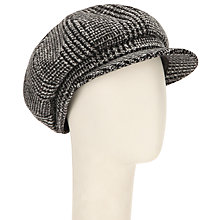 Buy John Lewis Wool Baker Boy Tweed Hat, Black/Grey Online at johnlewis.com