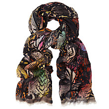 Buy John Lewis Colourful Reptile Print Scarf, Multi Online at johnlewis.com