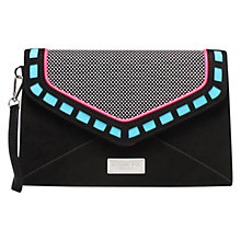 Buy Carvela Guard Envelope Clutch Bag, Black/Other Online at johnlewis.com