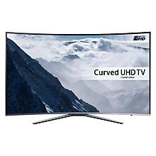"Buy Samsung UE65KU6500 Curved HDR 4K Ultra HD Smart TV, 65"" with Freesat HD, Playstation Now & Active + Bluetooth Soundbar & Subwoofer, Black Online at johnlewis.com"