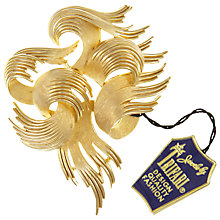 Buy Eclectica Vintage 1960s Trifari Gold Plated Abstract Brooch, Gold Online at johnlewis.com