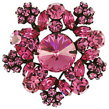 Buy Eclectica Vintage 1950s Regency Japanned Plated Glass Rhinestone Brooch, Carnation Online at johnlewis.com