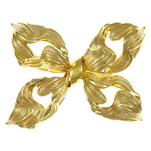 Buy Eclectica Vintage 1960s Grosse Gold Plated Textures Bow Brooch, Gold Online at johnlewis.com