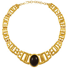 Buy Eclectica Vintage 1980s Monet Gold Plated Resin Cabochon Collar Necklace, Black/Gold Online at johnlewis.com