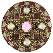 Buy Eclectica Vintage 1980s Miracle Gold Plated Glass Brooch, Plum/Pink Online at johnlewis.com