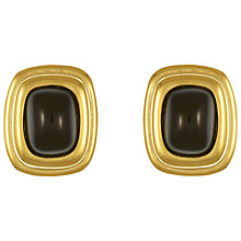 Buy Eclectica Vintage 1970s Givenchy Gold Plated Faux Onyx Clip-On Earrings, Black/Gold Online at johnlewis.com