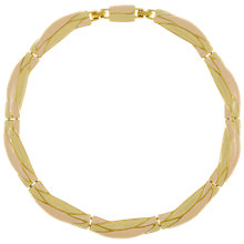 Buy Eclectica Vintage 1980s Monet Gold Plated Enamel Necklace, Blush/Cream Online at johnlewis.com