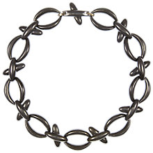 Buy Eclectica Vintage 1990s Monet Metallic Plated Open Link Necklace, Gunmetal Online at johnlewis.com