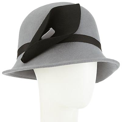 1920sHatStylesforWomenHistoryBeyondtheClocheHat John Lewis Calla Lily Felt Cloche Hat GreyBlack £45.00 AT vintagedancer.com