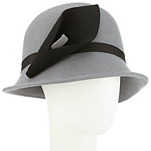 Buy John Lewis Calla Lily Felt Cloche Hat, Grey/Black Online at johnlewis.com