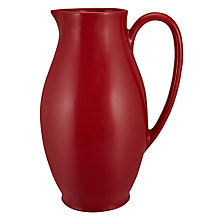 Buy John Lewis Coastal Provence Jug, Red Online at johnlewis.com