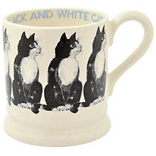 Buy Emma Bridgewater Year In The Country Black & White Cat Half Pint Mug Online at johnlewis.com