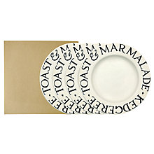 "Buy Emma Bridgewater Black Toast 8.5"" Plates, Set of 4 Online at johnlewis.com"
