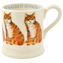 Buy Emma Bridgewater Year In The Country Long Hair Ginger Cat Half Pint Mug Online at johnlewis.com