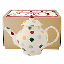 Buy Emma Bridgewater Polka Small Teapot, Boxed Online at johnlewis.com