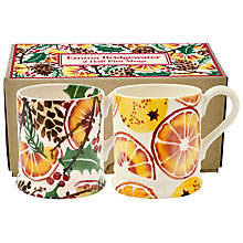 Buy Emma Bridgewater Holly Wreath 1/2pt Mug, Set of 2 Online at johnlewis.com
